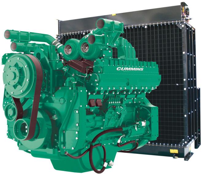 Cummins Diesel Engine QST30-G4-1150KVA 1800rpm Switchable Image