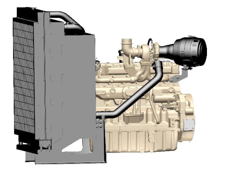 John Deere Diesel Engine 6090HFU84 300KVA - 1500 rpm Switchable Image